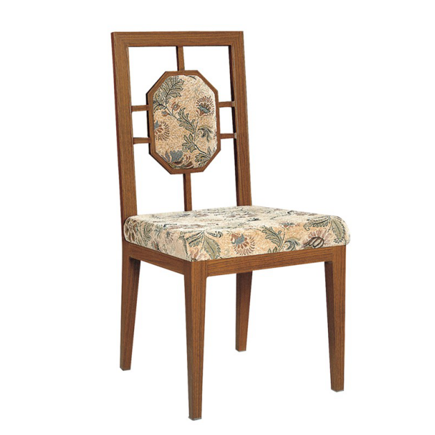 MESS HALL FABRIC  IMITATION WOODEN CHAIR YA-025