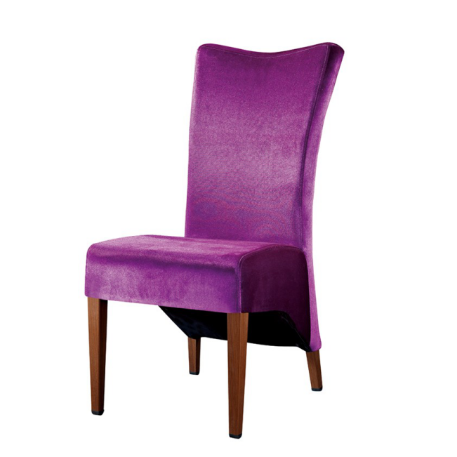 PURPLE VELVET UPHOLSTERED CHAIR DINNER PARTY CHAIRS YA-036