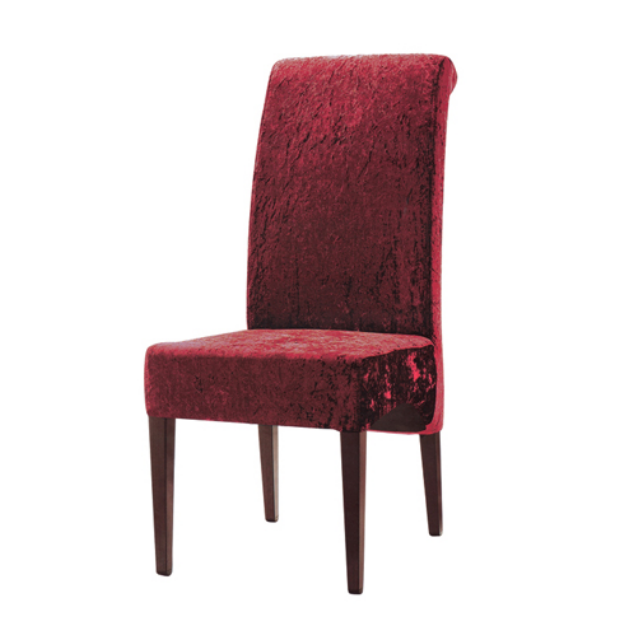 RED VELVET COCKTAIL PARTY CHAIRS METAL WOOD CHAIR YA-038