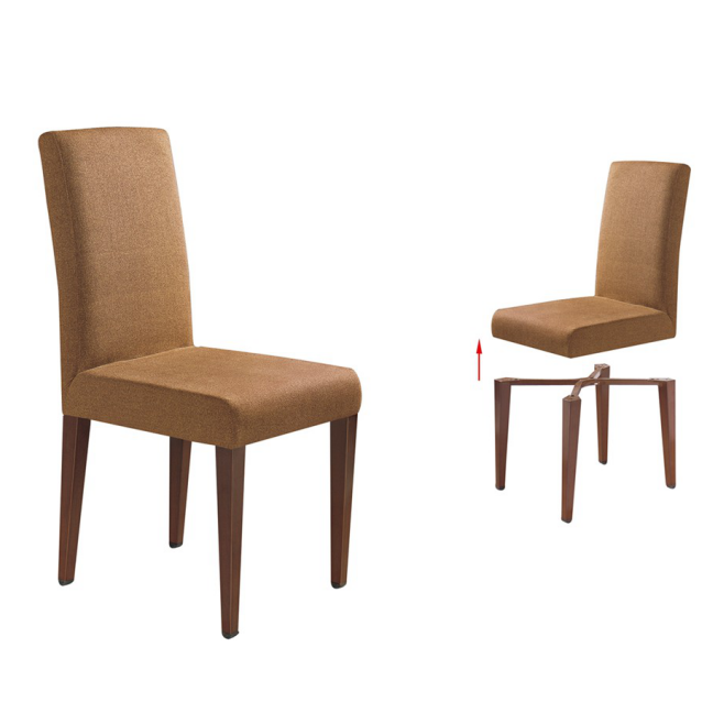 LEGS DETACHABLE HOTEL RESTAURANT METAL WOOD CHAIR YA-042