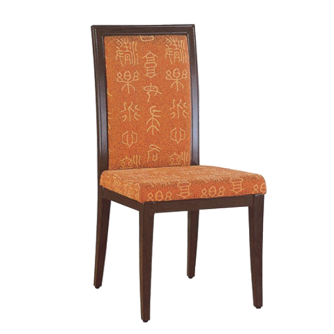 IMITATION WOOD METAL CHAIR FOR HOTEL BLACK-TIE PARTY YA-048