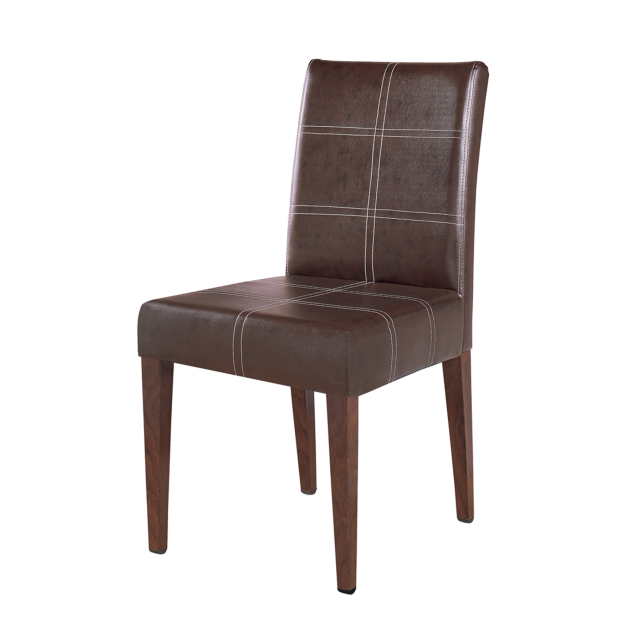 PU LEATHER CHAIR WOOD METAL CHAIR FOR COFFEE HOUSE YA-054