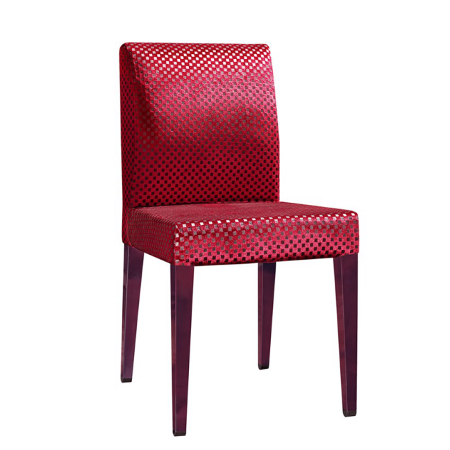 RED LEATHER IMITATION STEEL WOODEN CHAIR  YA-076