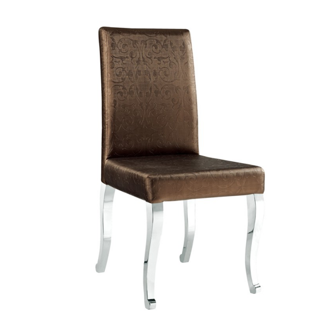 PU LEATHER STAINLESS STEEL CHAIR  YA-080
