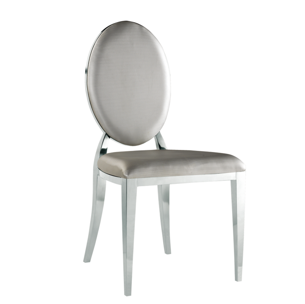 ROUND BACK STAINLESS STEEL WOODEN CHAIR FOR HOTEL RESTAURANT   YA-082