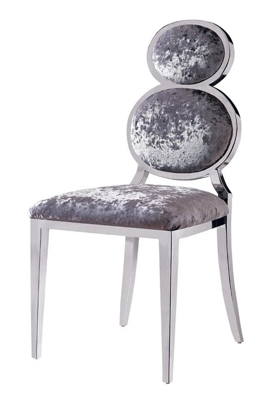 SPECIAL CUCURBIT BACK DESIGN STAINLESS STEEL CHAIR YA-086