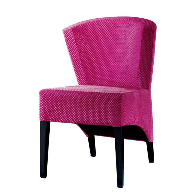 UNIQUE CURVE BACK PURPLE FABRIC COFFEE SHOP STEEL CHAIR YA-088