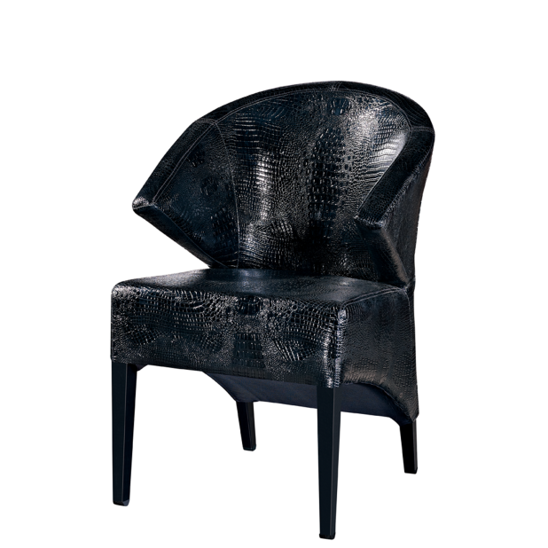 BLACK LEATHER CAFE FURNITURE STEEL WOODEN CAFE CHAIR YA-090