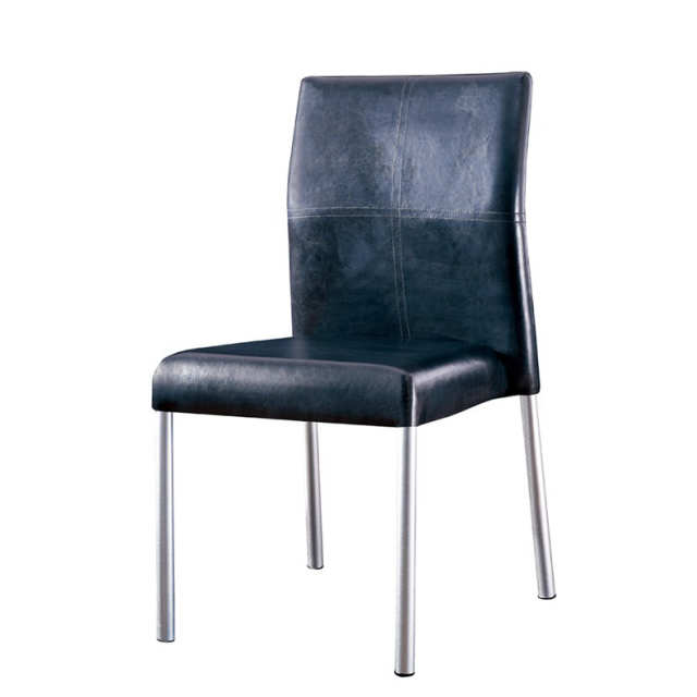 CHEAPER LEATHER STEEL CHAIR  YA-094
