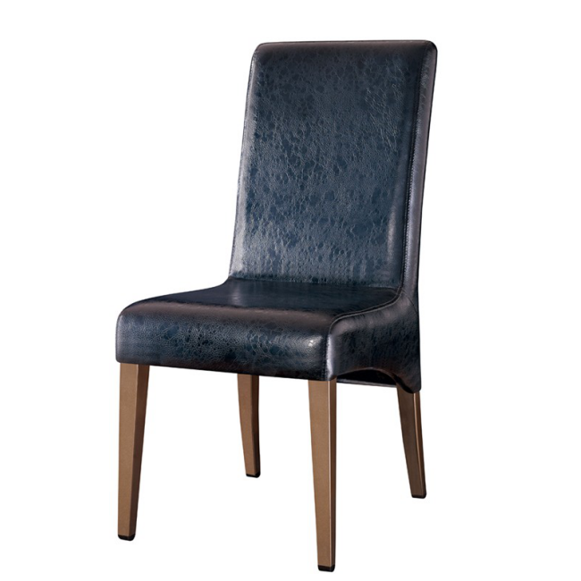 UPHOLSTERED DINING ROOM CHAIR STEEL IMITATION WOODEN CHAIR YA-099