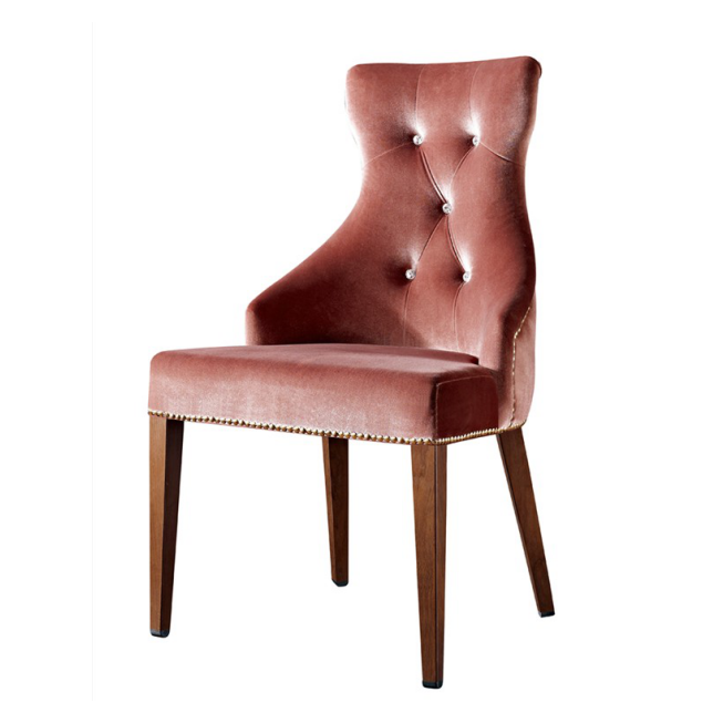 UPHOLSTERED ARM CHAIR VIP ROOM WOODEN CHAIR YA-1006-2