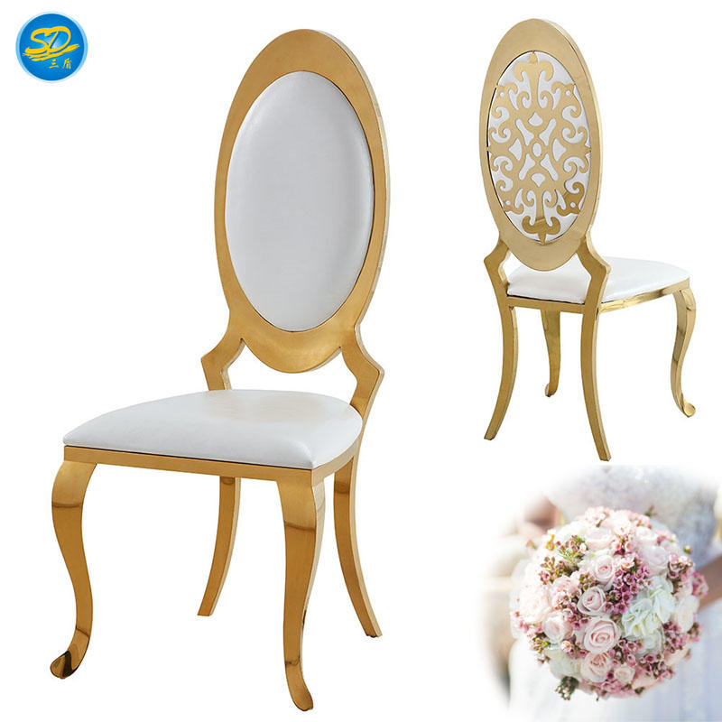 LUXURY WEDDING PARTY STAINLESS STEEL CHAIR YS-002