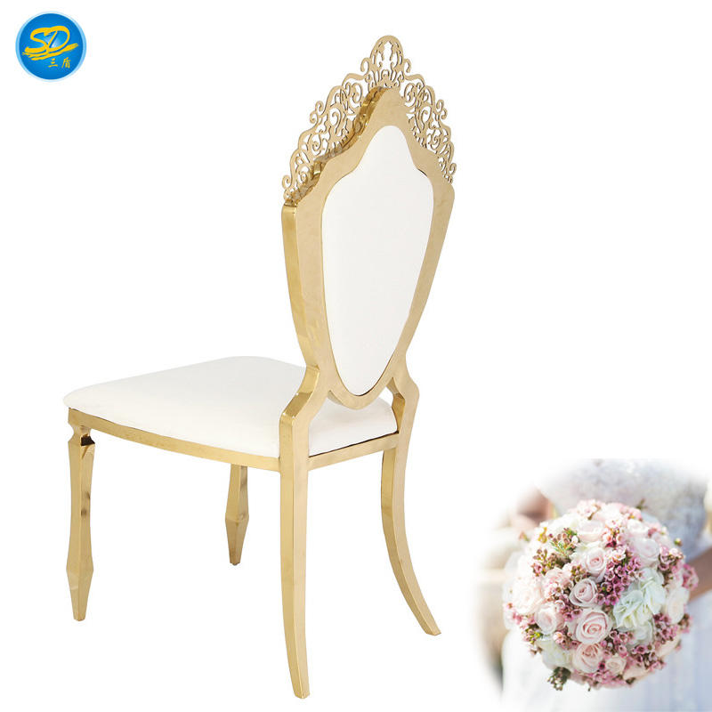 HOTEL LUXURY PARTY STAINLESS STEEL QUEEN CHAIR YS-007
