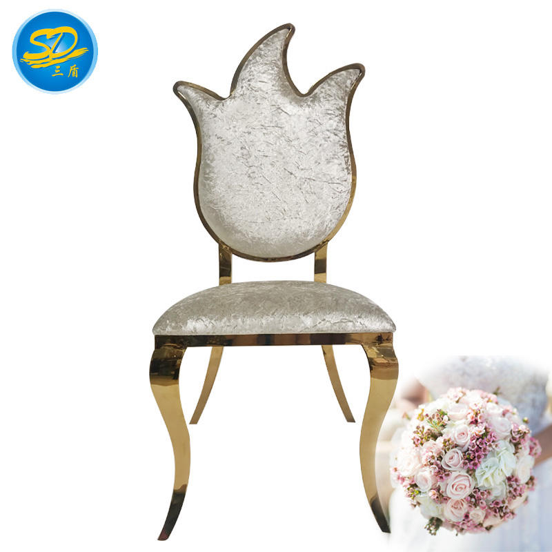FLAME DESIGN HOTEL BALLROOM BANQUET STAINLESS STEEL CHAIR YS-008