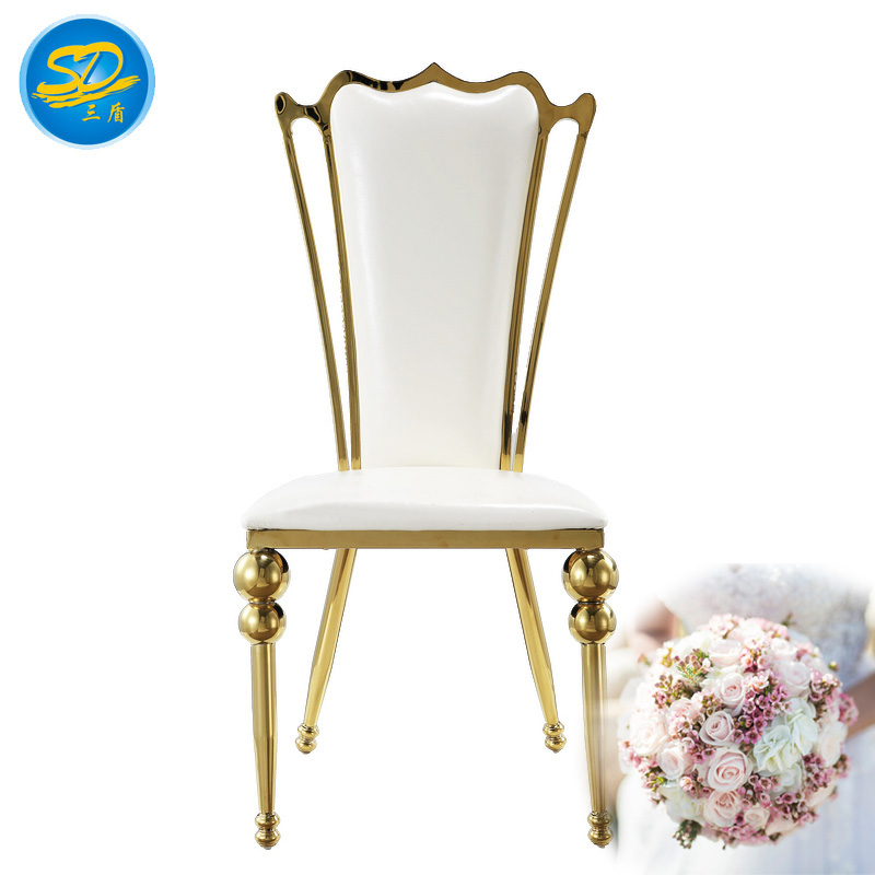 hot-sale stainless steel dining room chairs from China for dresser-1