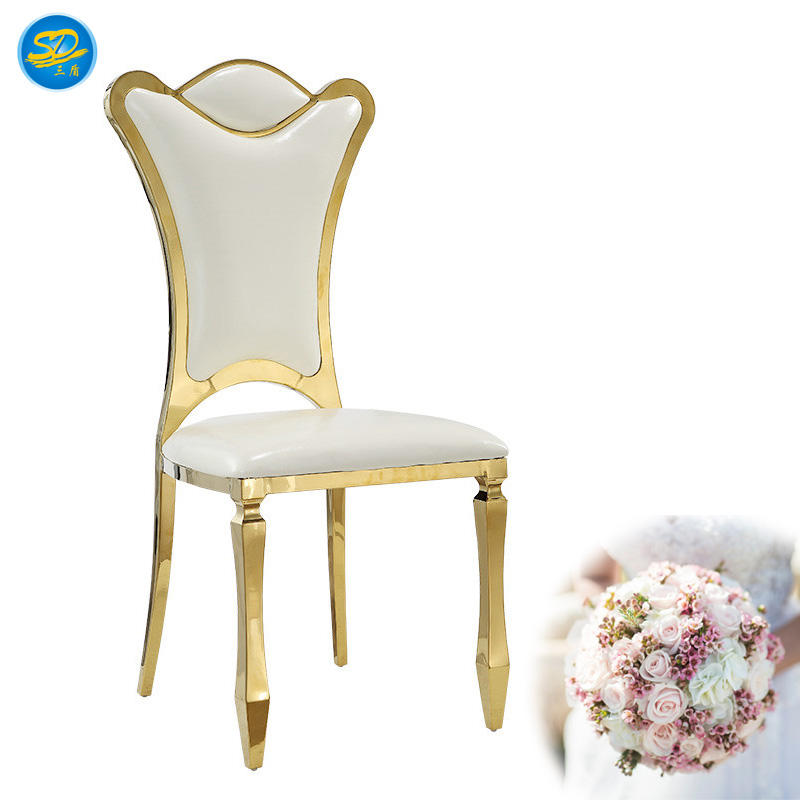 STAINLESS STEEL GOLDEN WEDDING EVENT PARTY CHAIR YS-012