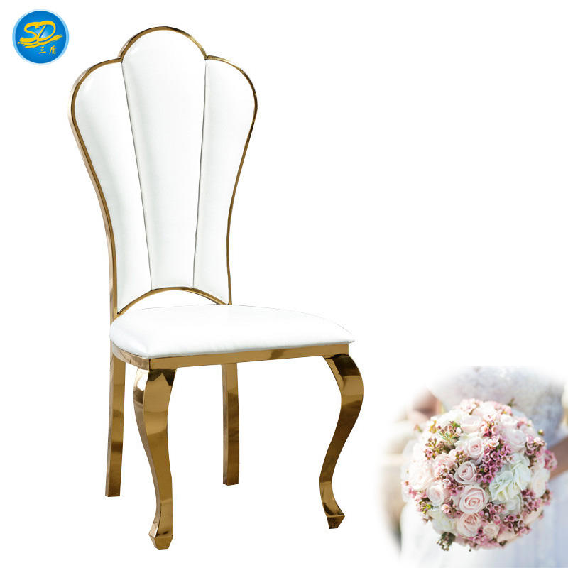 HIGH QUALITY STAINLESS STEEL GOLDEN PAINTING HOTEL WEDDING CHAIR YS-020