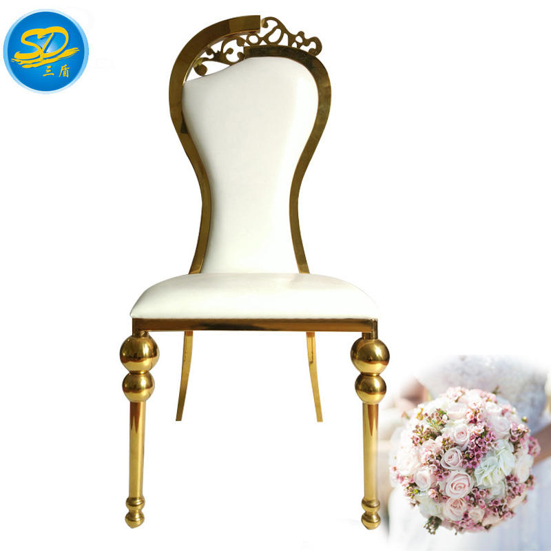 BRIDE AND BRIDEGROOM CHAIR STAINLESS STEEL WEDDING PARTY CHAIR YS-022