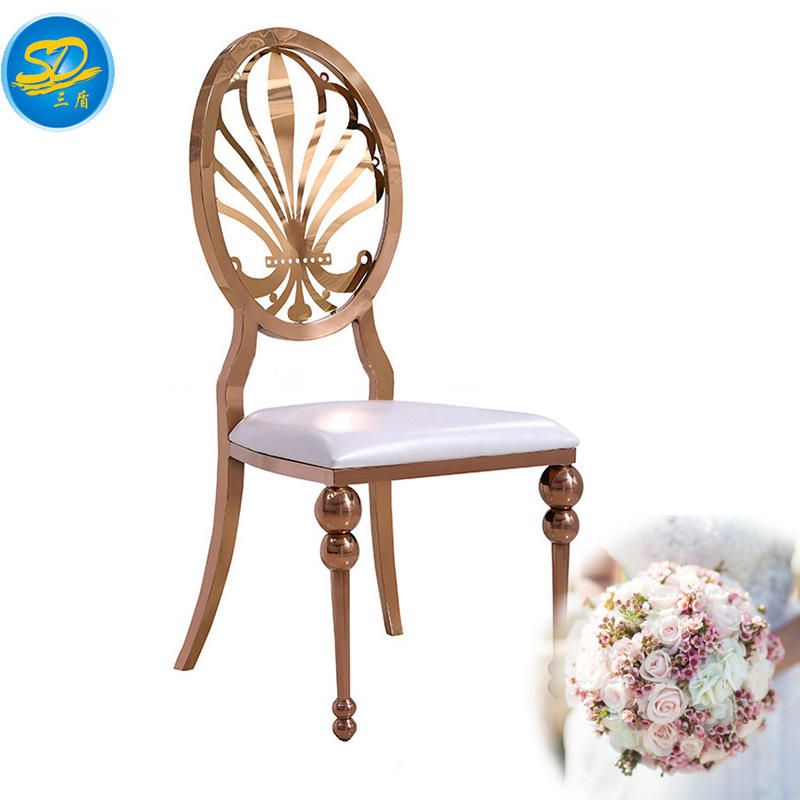 ROSE GOLD PAINTING STAINLESS STEEL WEDDING EVENT PARTY CHAIR YS-023