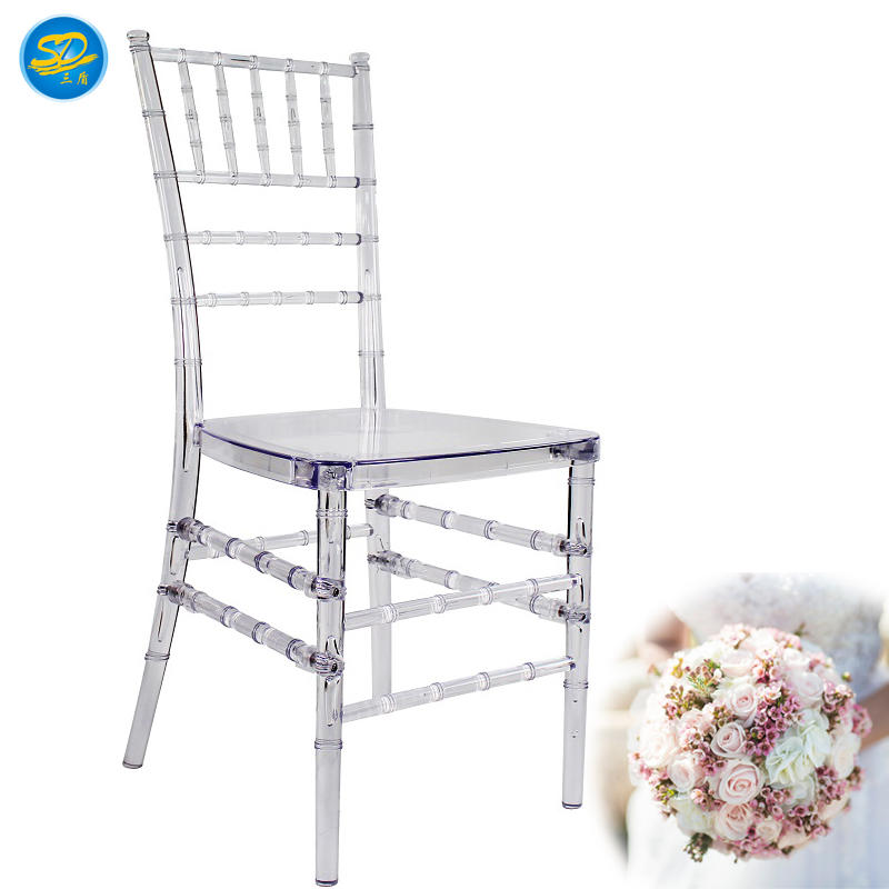 CLEAR PLASTIC WEDDING BANQUET CHIAVARI STACKING CHAIR  YRC-001