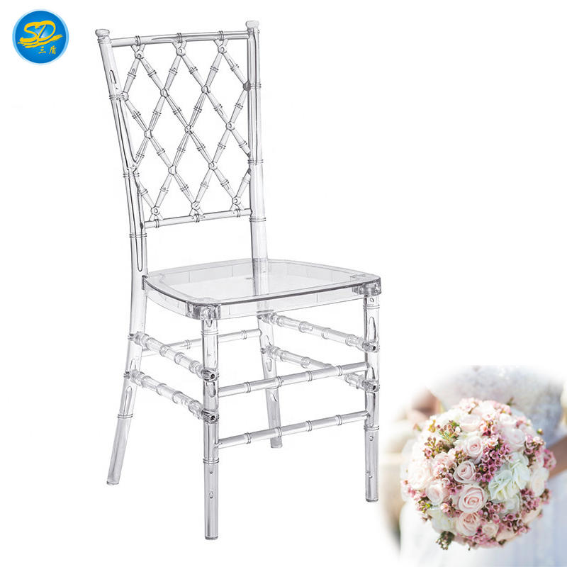 HOT SALE BANQUET WEDDING PARTY CHIAVARI CHAIR RESIN TIFFANY CHAIR YRC-003