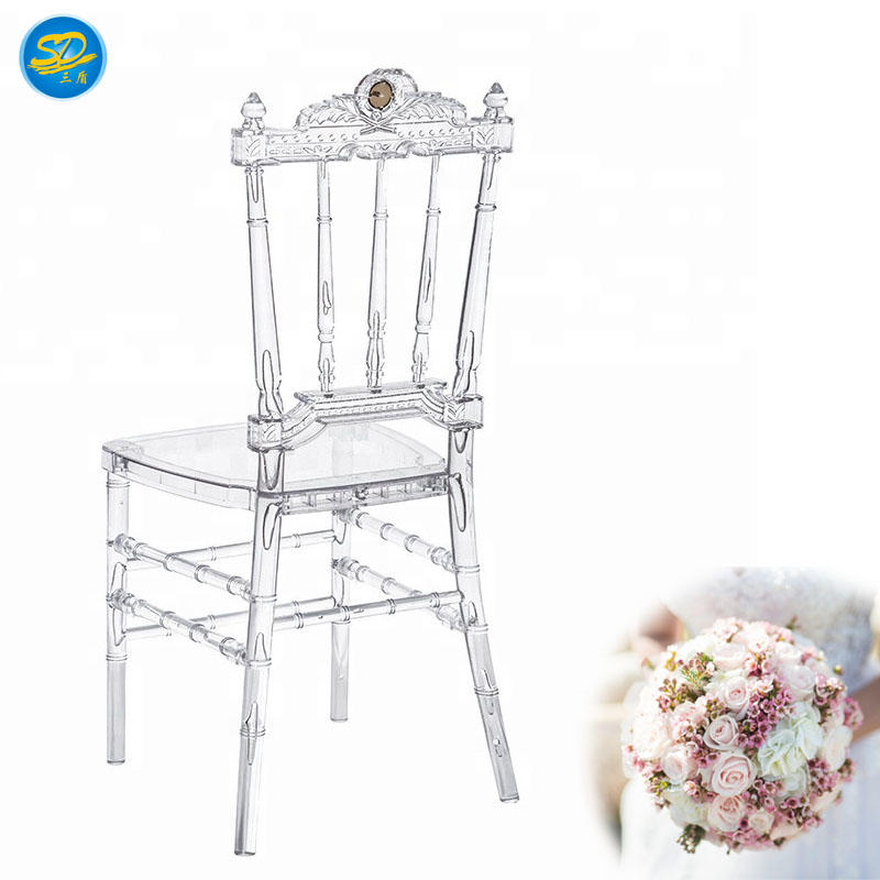 RESIN ROYAL WEDDING CHAIR CROWN PARTY STACKING CHAIR YRC-004
