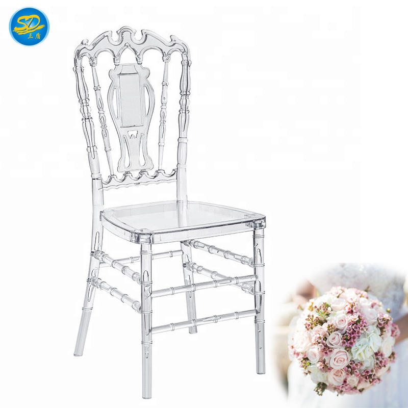 2019 NEW DESIGN WEDDING PARTY RESIN CHAIR CLEAR NAPOLEON CHAIR YRC-005