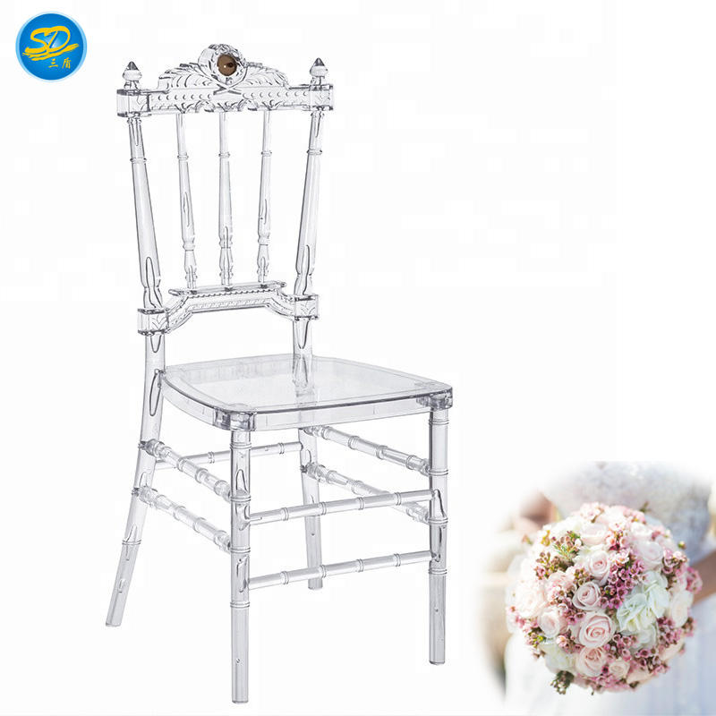 CLEAR CRYSTAL CHAIR LUXURY PARTY RESIN NAPOLEON CHAIR YRC-011