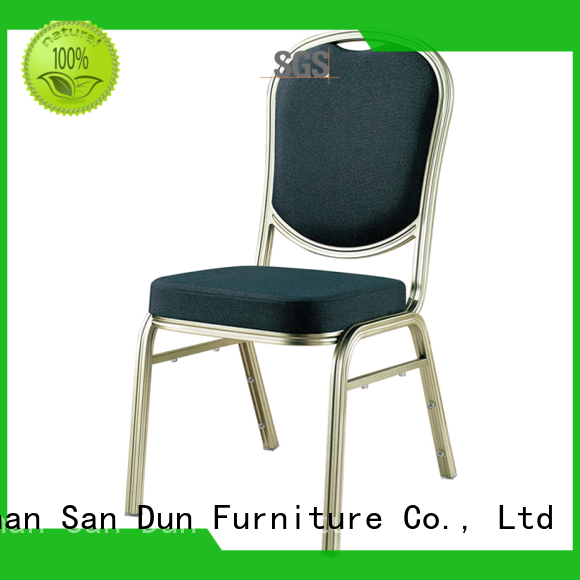 San Dun elegant aluminum dining chairs from China for party hall