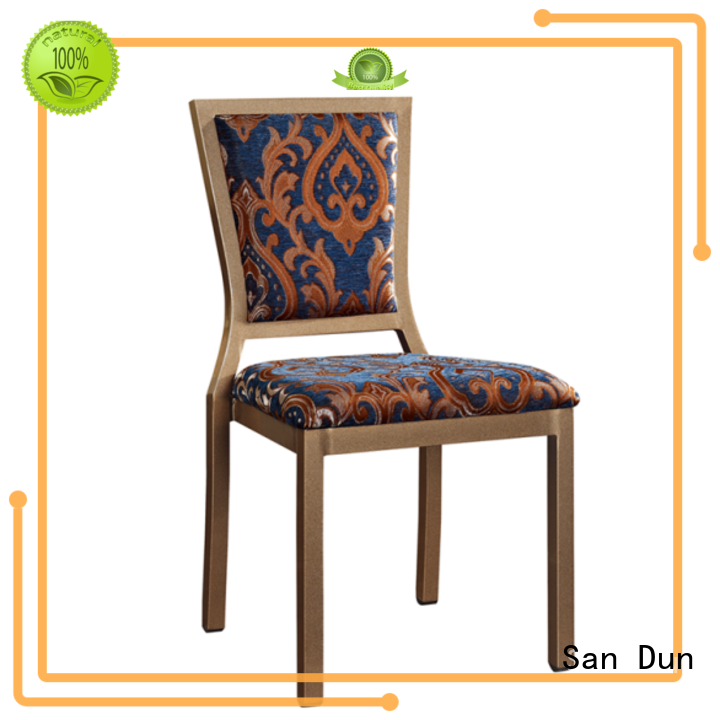 San Dun best price stackable aluminum chairs company for hotel banquet