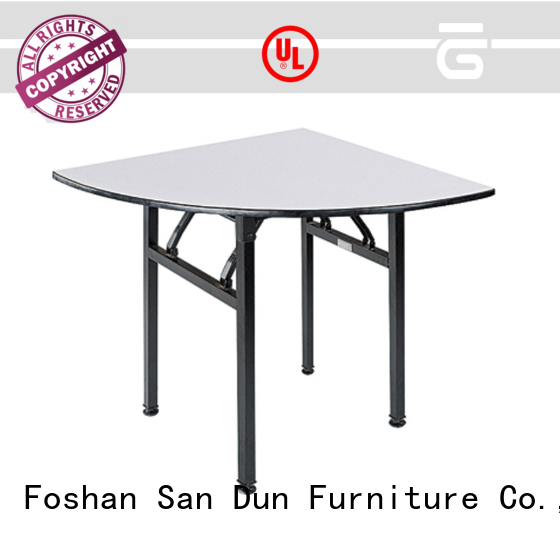 Quarter-Moon Folding PVC Table Banquet Event Party Table YF-005