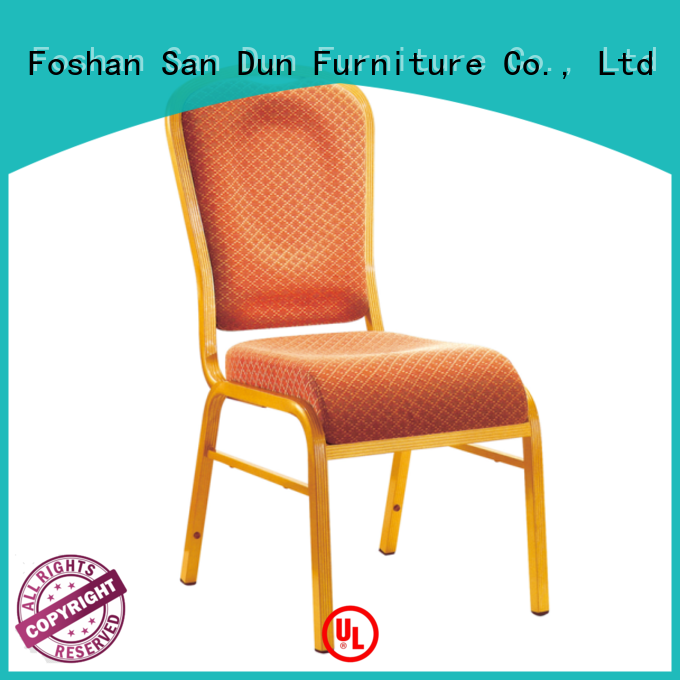 San Dun aluminium stacking chairs supply for restaurant