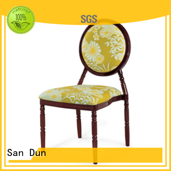 San Dun aluminum restaurant chairs from China for promotion