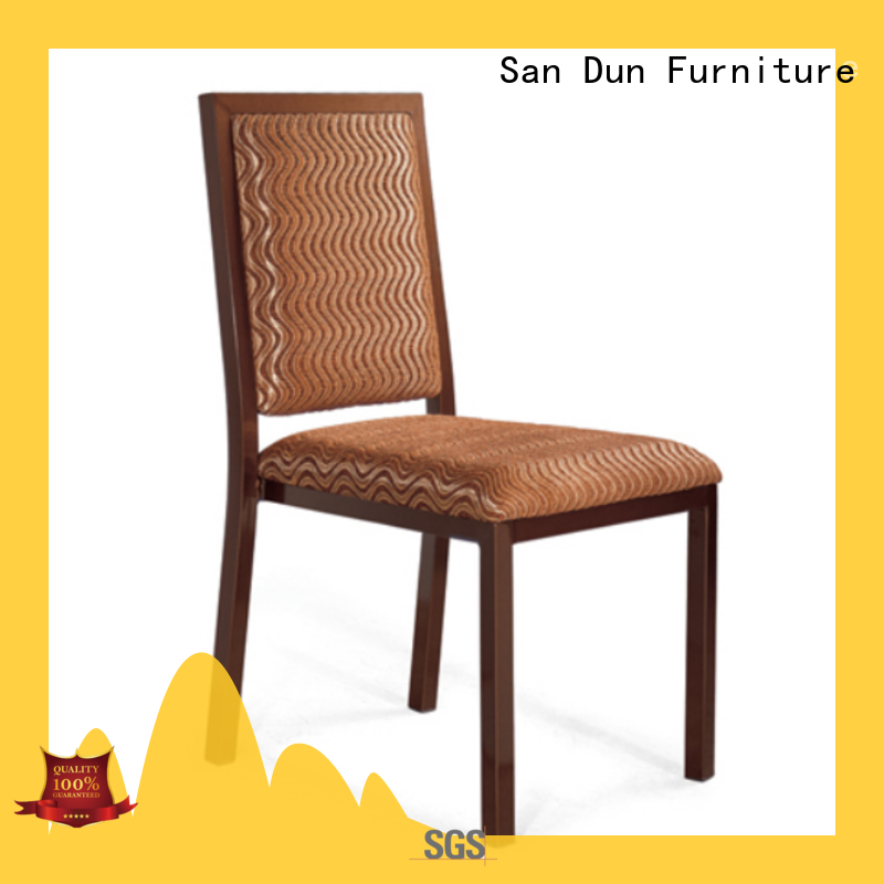 San Dun excellent steel chair for dining table best supplier for coffee shop