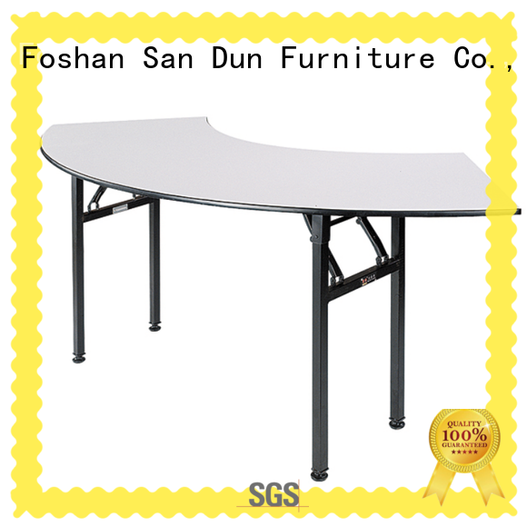 Cresent Folding Table Banquet  Meeting Wooden Table  YF-003A