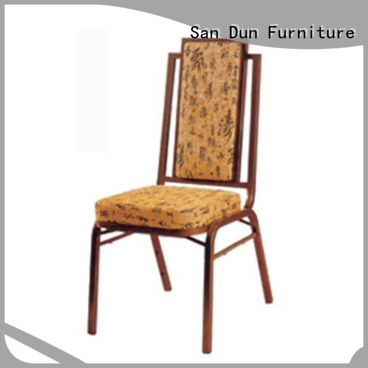San Dun new steel chair with cushion series for cafes