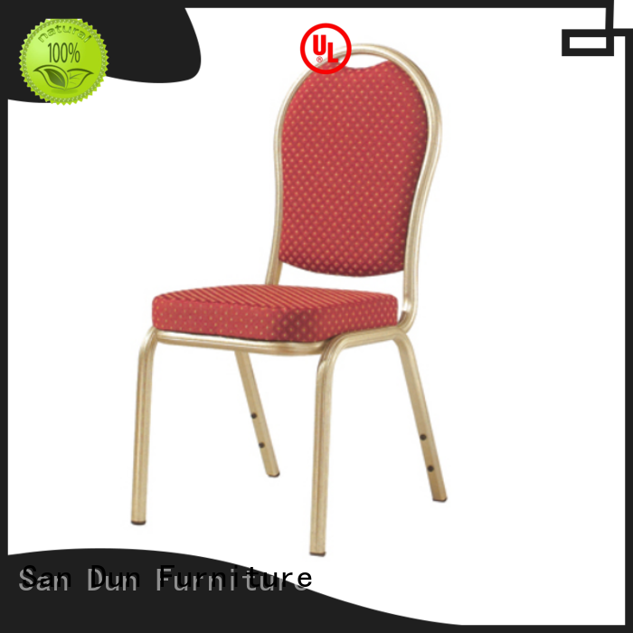 San Dun eco-friendly aluminum dining chairs wholesale for restaurant