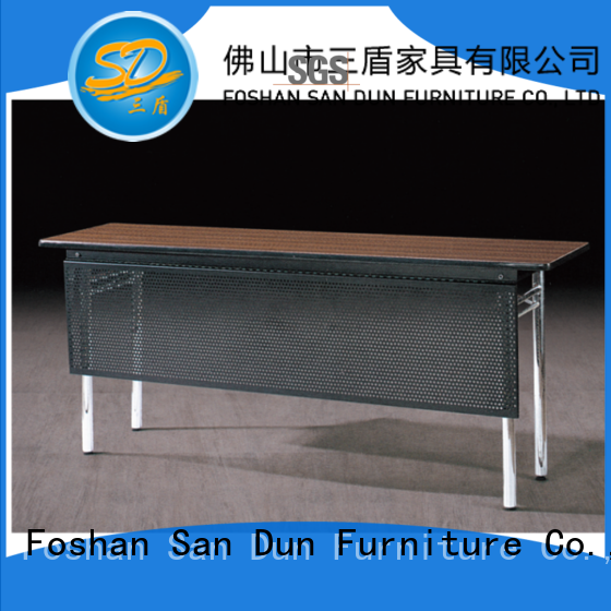 Meeting Training Table Metal Plate Stainless Steel Legs Folding Table For  Conference YF-088