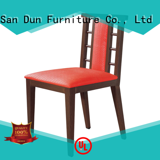 unique wood and upholstered dining chairs furniture for hotel San Dun