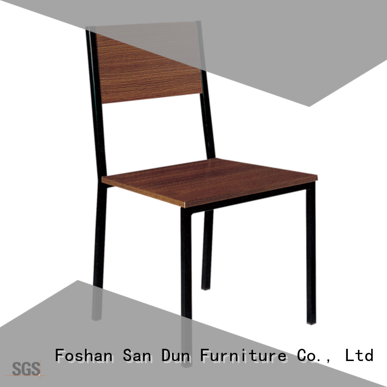 promotional steel dining chair design company for restaurant