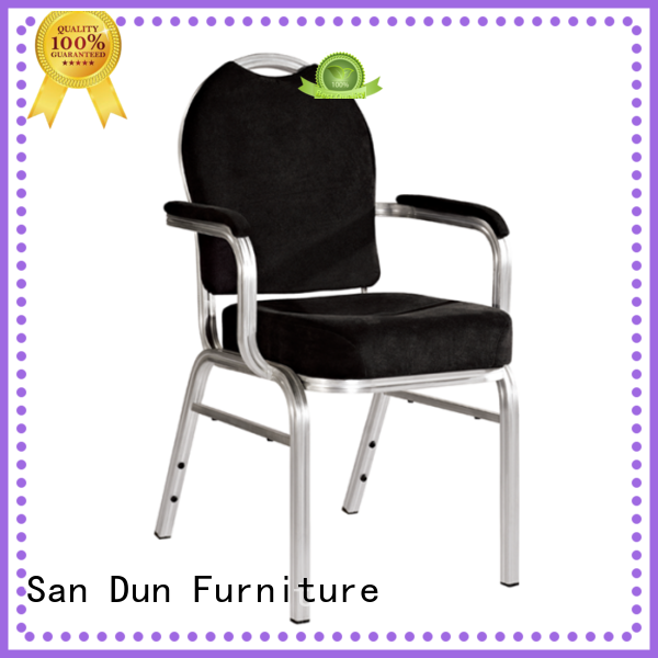 San Dun stackable aluminum patio chairs directly sale for coffee shop