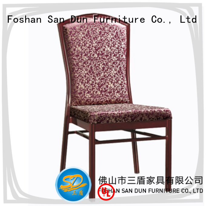 San Dun aluminium cafe chairs best manufacturer for hotel banquet