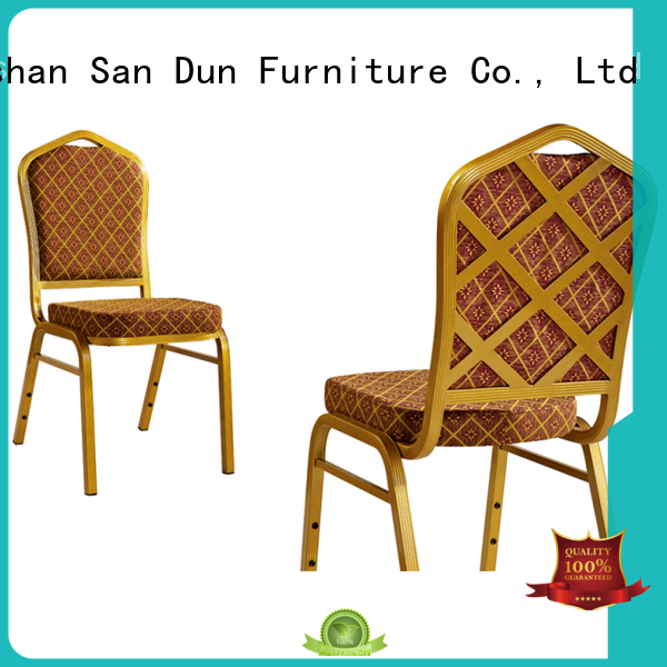 San Dun aluminum patio dining chairs from China for hotel banquet