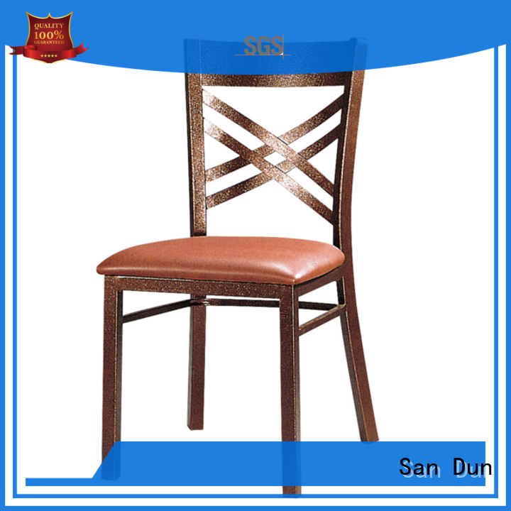 San Dun best steel chair for restaurant factory direct supply for church