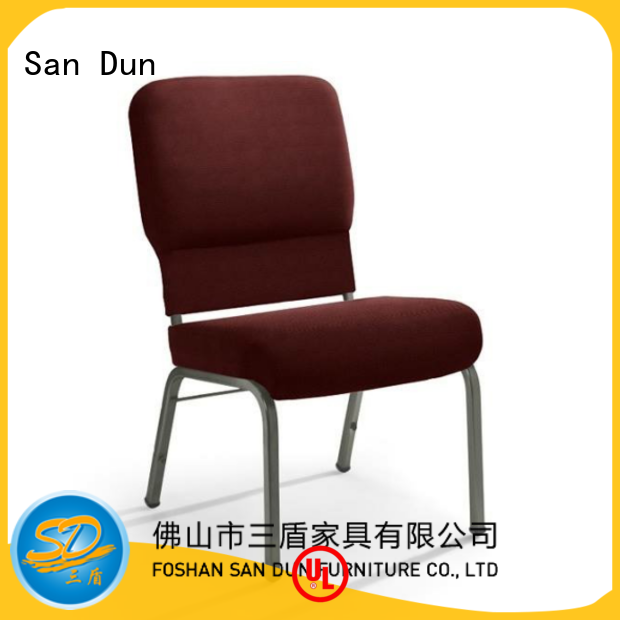 San Dun best value steel frame dining chairs suppliers for church