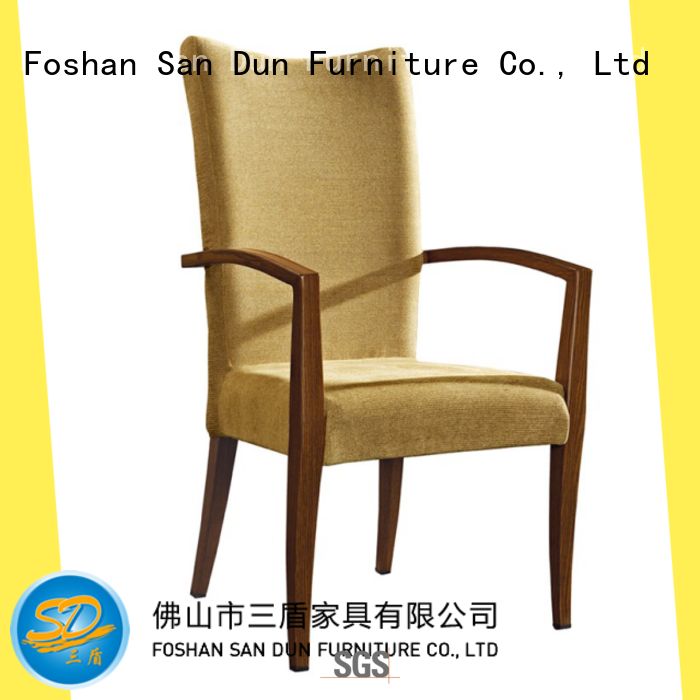 fabric wood chair with upholstered seat design for party