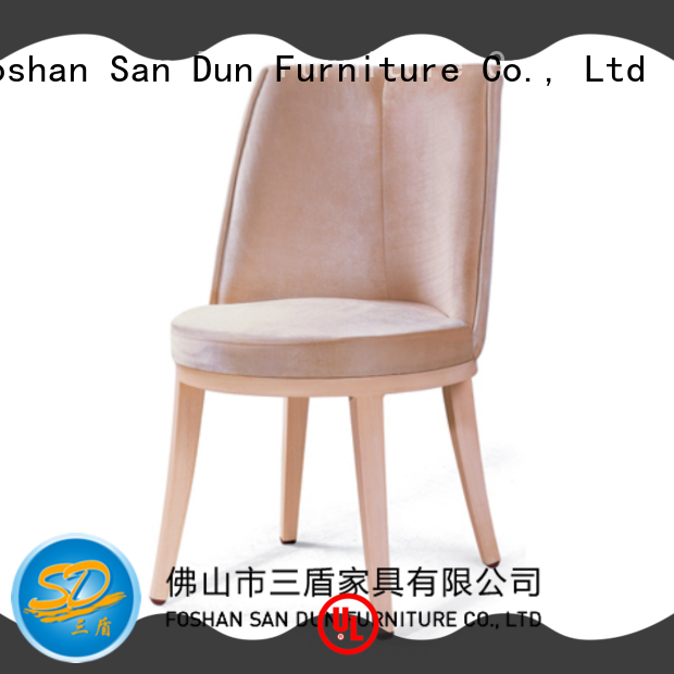 San Dun fabric wooden chair with cushion China for restaurant