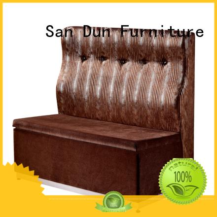 San Dun cafeteria sofa supplier bulk production