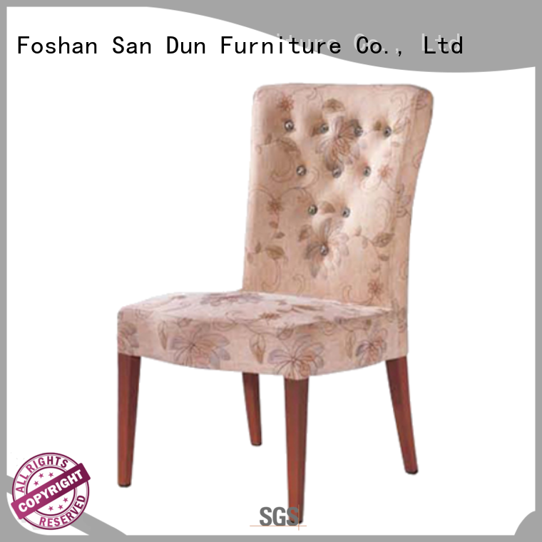 San Dun ladder back wooden chair with fabric seat furniture hotel
