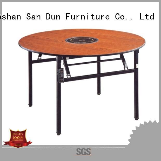 Round  Hot Pot Table Laminate  Folding  Restaurant Table YF-018